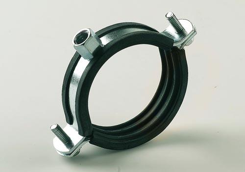 Metallic clamps with rubber seal
